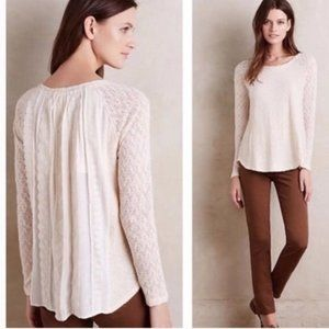 ONE SEPTEMBER Rosanella Pleated Lace Top Size MP